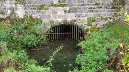 hier geht es unter der Brücke durch