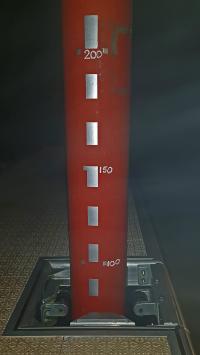 die Wasserstandssäule zeigt noch ca. 70 cm ü. Normal an