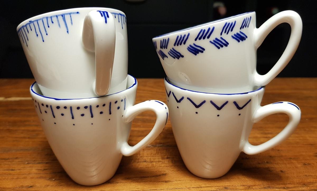 1. Versuch Porzellanmalen