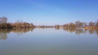 Die Saône ist heute wie ein See