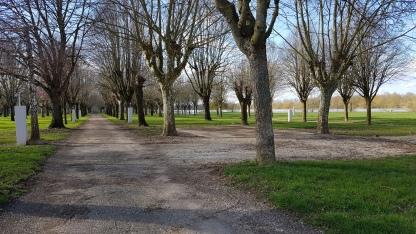 Der Camper-Platz, gut erschlossen. Unzählige Bäume werden im Sommer schattige Stellplätze garantieren