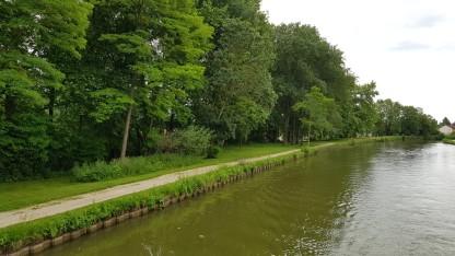 Die Kanaluferzonen schauen aus wie in einem endlos langen Park
