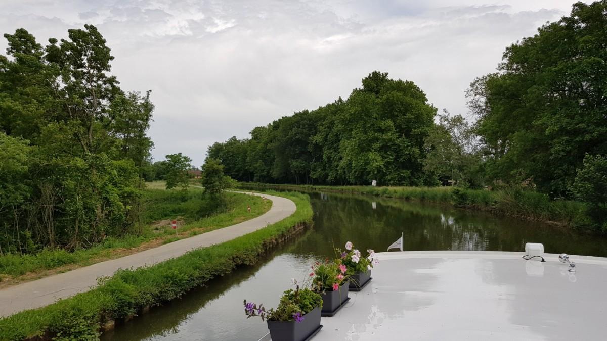 Endlich – wir sind im Canal duCentre