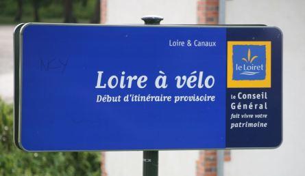 """Schild für die Radwege """"Loire à vélo"""""""