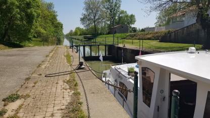 Zurück in den Kanal nach Pont-de-Vaux