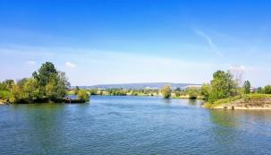 Ein See am Rand der Saône