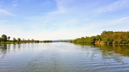 Die Weite der Saône und nur wir!