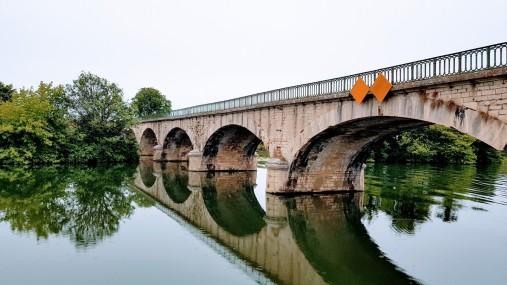 Die Brücke von Rupt-sur-Saône