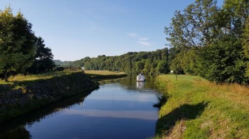 Ende des Canal des Vosges talwärts, der Kanal fliesst hier in die Saône