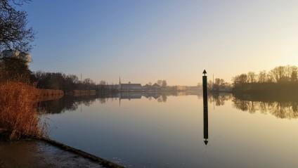 Die Saône in bestem Winterlicht II