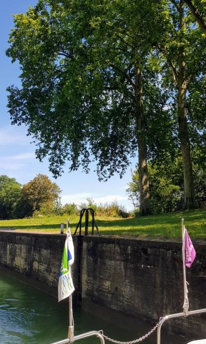 letzte Schleuse auf der Saône 2