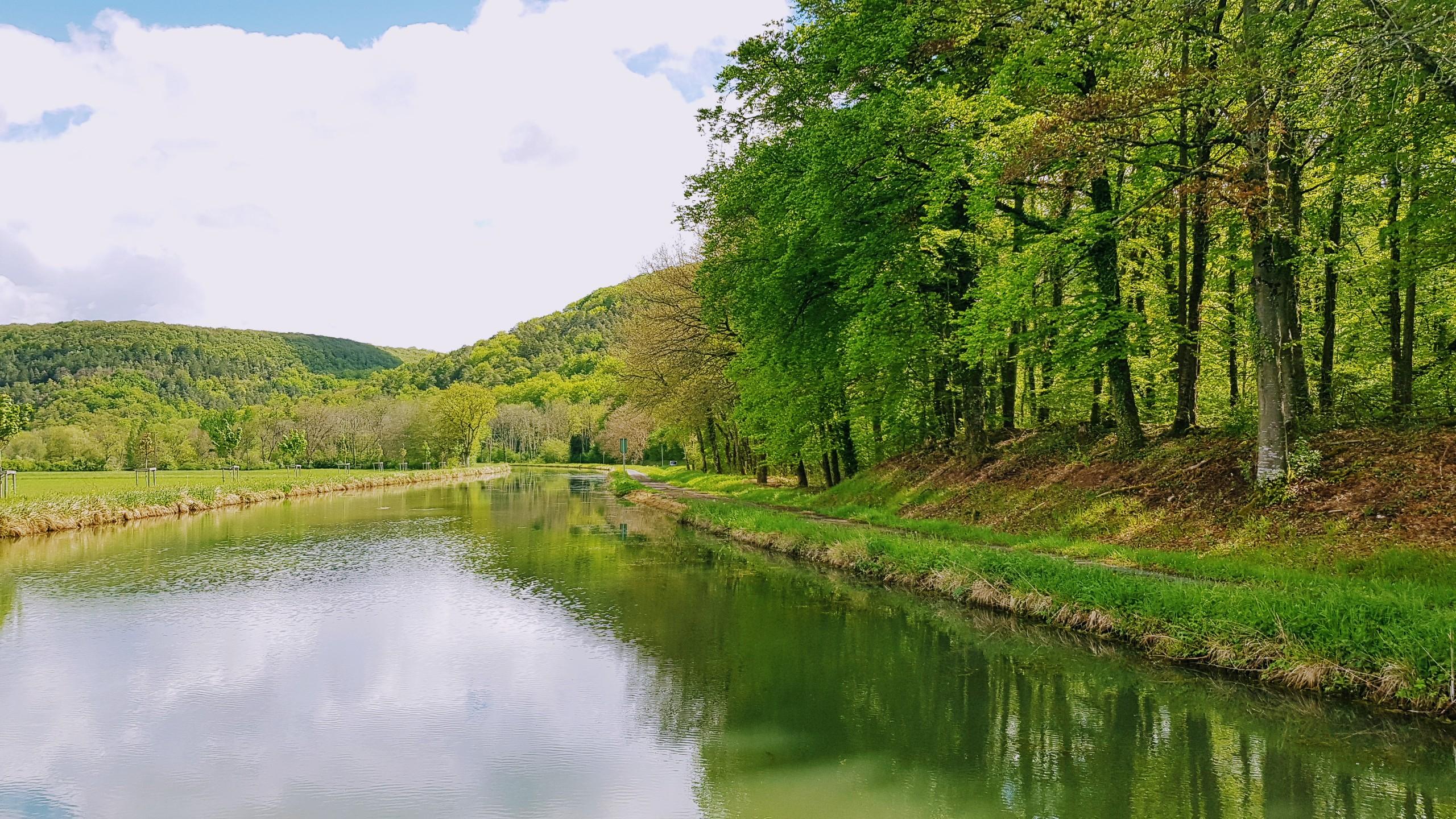 Friedliche Stimmung; Stille, frisches Grün, plätscherndes Kühlwasser und Vogelstimmen
