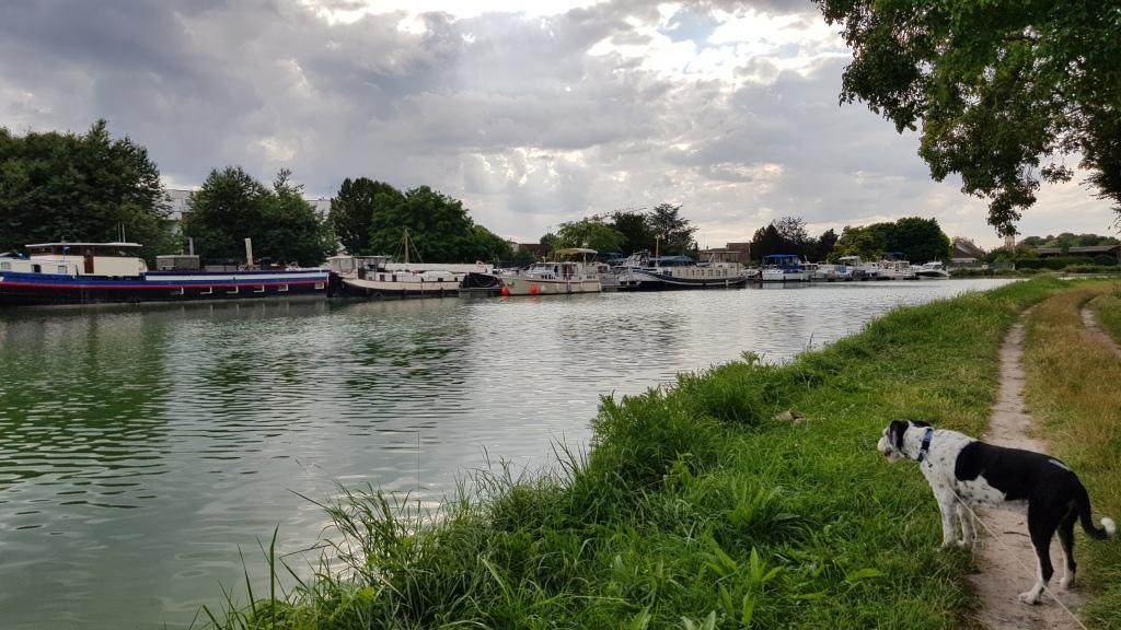 Der Hafen von Sillery, eine Nachbargemeinde von Reims